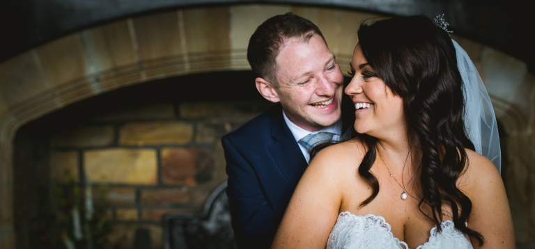 bride and groom at oakwell hall yorkshire