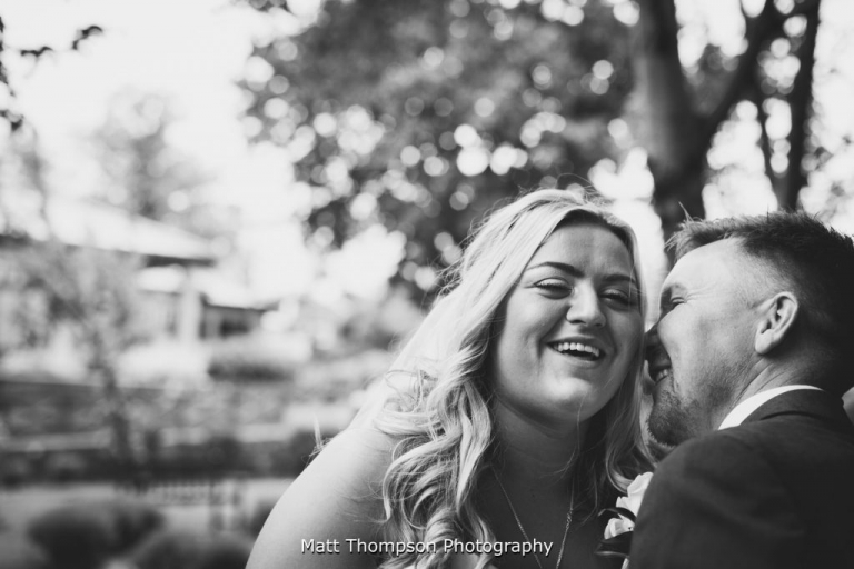bride and groom laughing in halifax