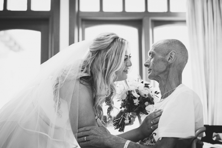 bride and ill father of the bride