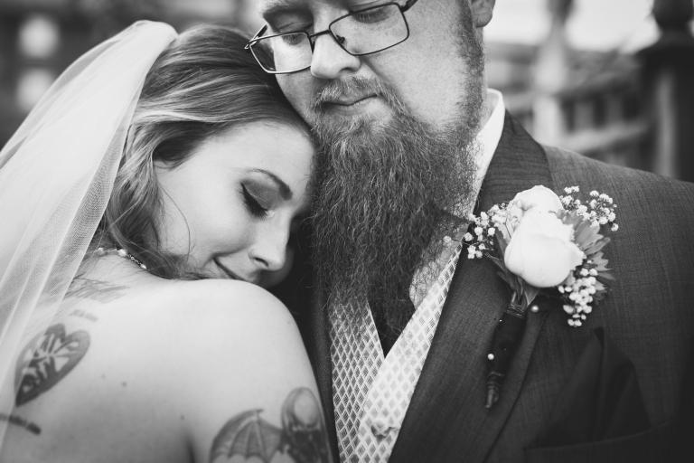 newly weddings cuddling in yorkshire