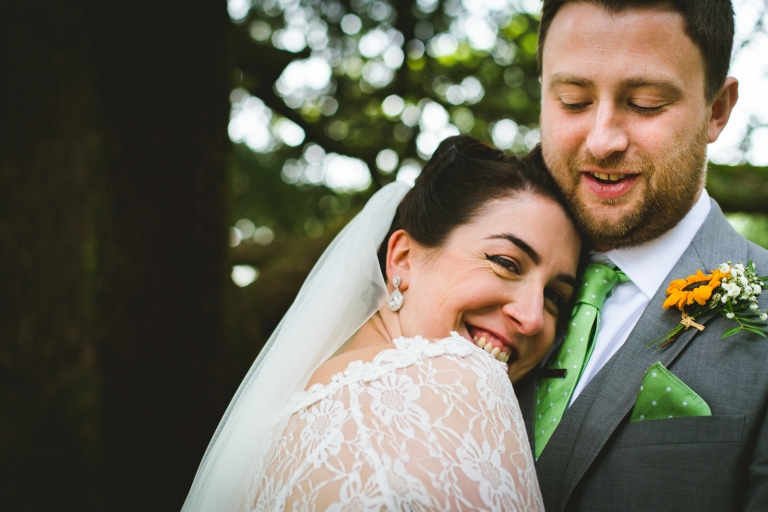 yorkshire couple laughing and cuddling