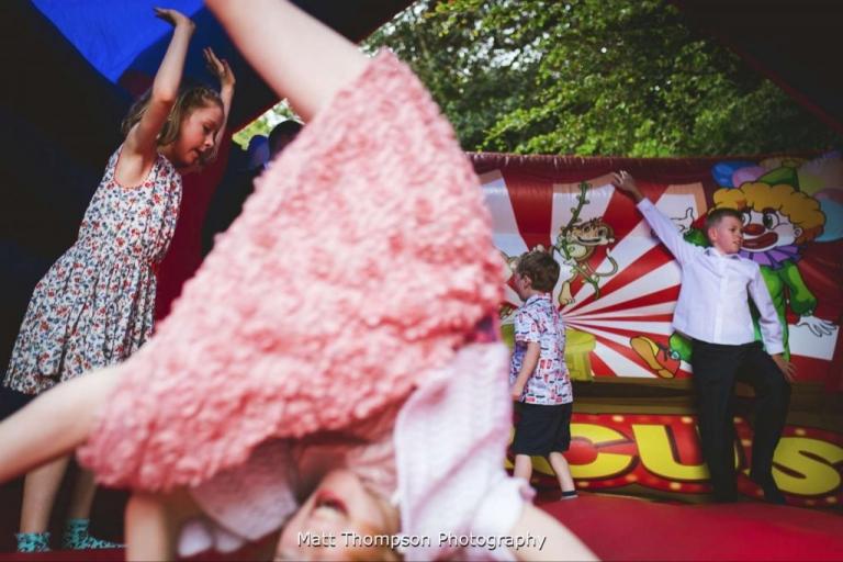 Bouncy castle wedding
