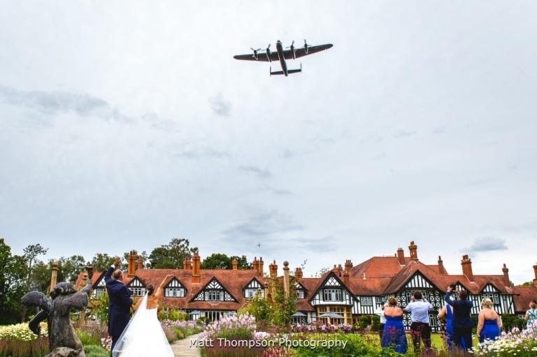 lancaster bomber flyover at petwood hotel