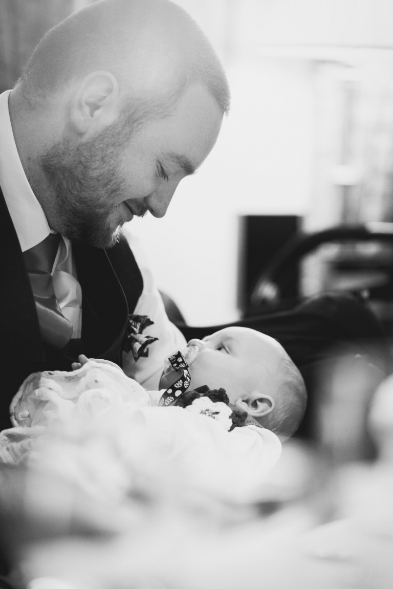 groom with son at holdsworth house yorkshire